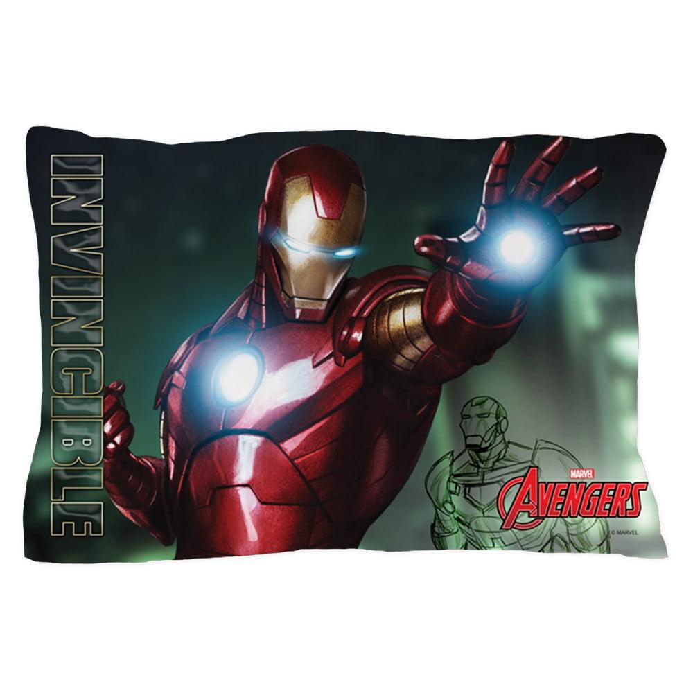 """CafePress - Avengers Invincible Iron Man - Standard Size Pillow Case, 20""""x30"""" Pillow Cover, Unique Pillow Slip"""