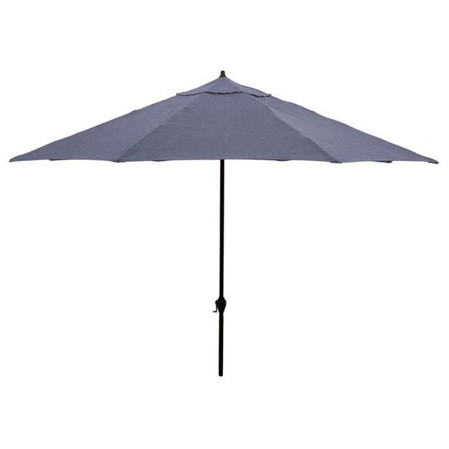 March Products 245802 10 x 6 ft. Polyester Aluminum Deluxe Crank Open Market Umbrella, Charcoal - image 1 de 1