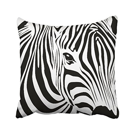 WinHome Decorative Abstract Zebra Face Art Funny Animal Print Throw Pillow Case Zippered Cushion Cover Case Pillowcase Home Sofa Decorative Size 18x18 inches Two Side