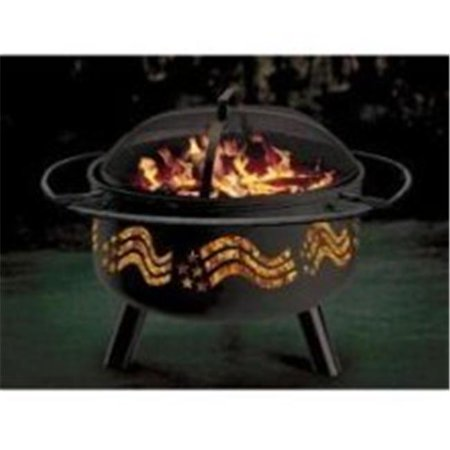 Stone River Gear SRG1FP-FLAG Stars & Stripes Combo Firepit-Grill
