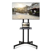 UBesGoo Mobile TV Stand Cart Mount with Pulley Tray Camera Bracket