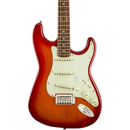 - Fender Squier Standard Stratocaster®, Laurel Fingerboard, Cherry Sunburst