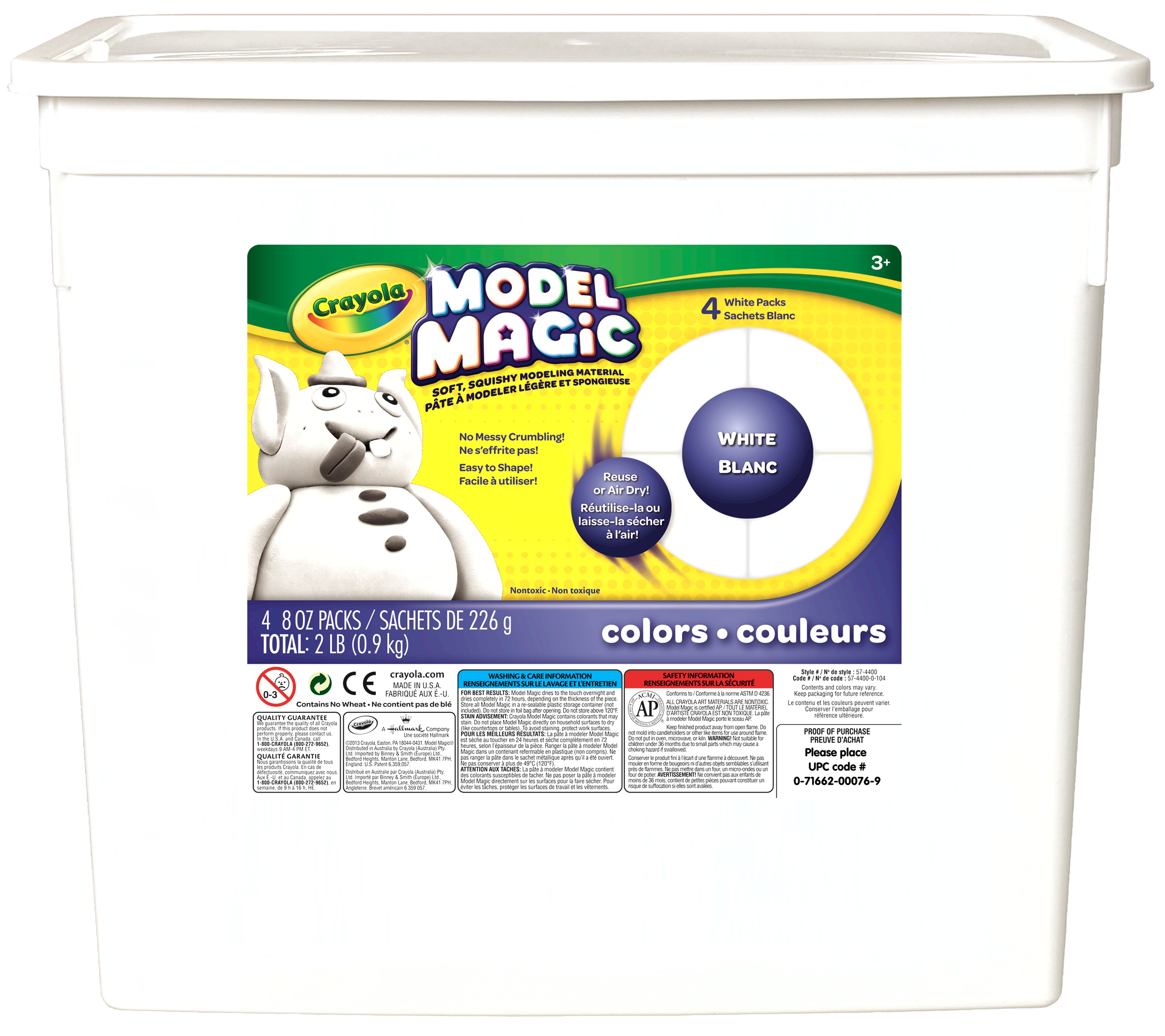Crayola Model Magic, White Clay Alternative, DIY Slime Ingredient, 2lb by Crayola