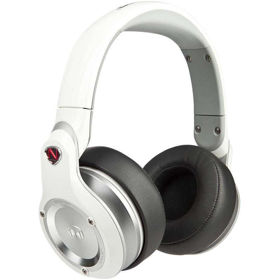 NCredible N-Pulse Over-Ear DJ Headphones by Monster, White