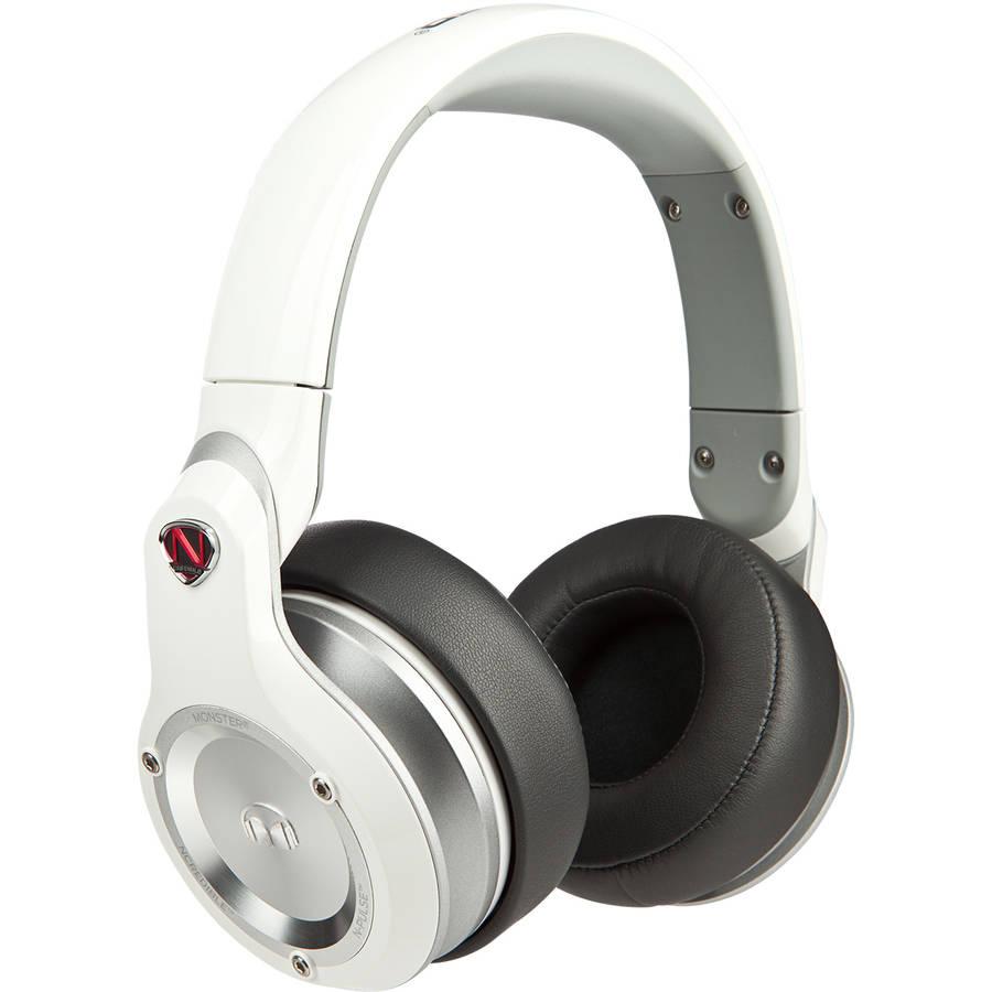 Monster Ncredible Npulse Over-Ear Headphones, White