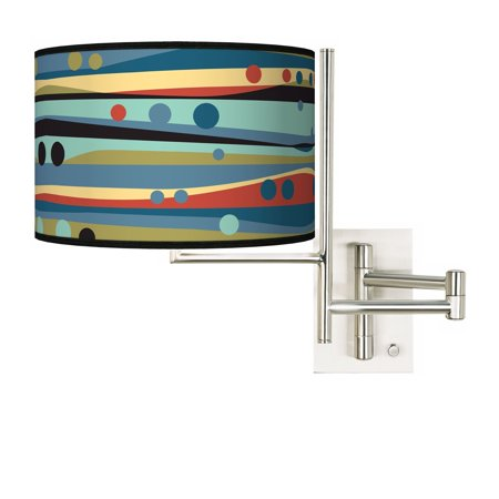 Giclee Glow Tempo Retro Dots and Waves Plug-in Swing Arm Wall