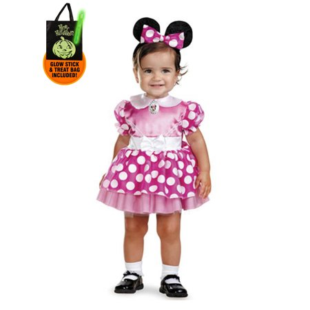 Infant Pink Minnie Mouse Disney Costume Treat Safety Kit - Safety Costume