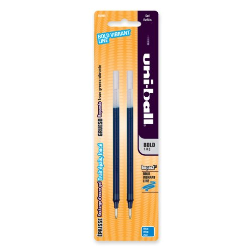 Uni-ball Gel Impact Refill - Bold Point - Blue - 2 / Pack (65809PP)