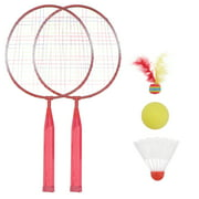 Badminton Set for Kids Lightweight Badminton Kit for Children Badminton Toys for Indoor Outdoor Backyards Lawn Beach Sports Game, with Carry Bag-Random Color