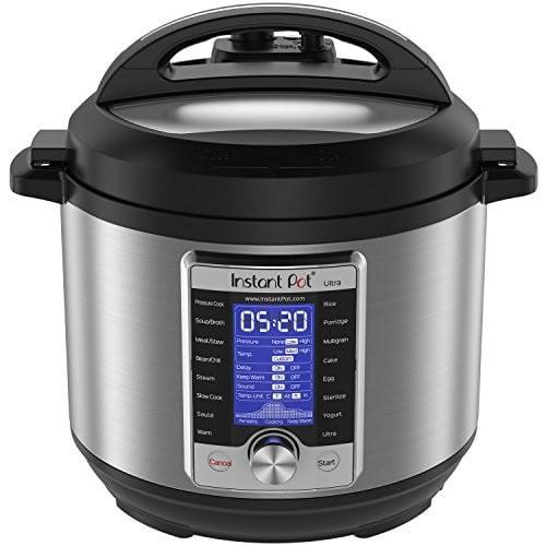 Instant Pot Ultra 6 Qt 10-in-1 Multi-Use Programmable Pressure Cooker, Slow Cooker, Rice Cooker, Yogurt Maker, Cake Maker, Egg Cooker, Sauté, Steamer, Warmer, and Sterilizer