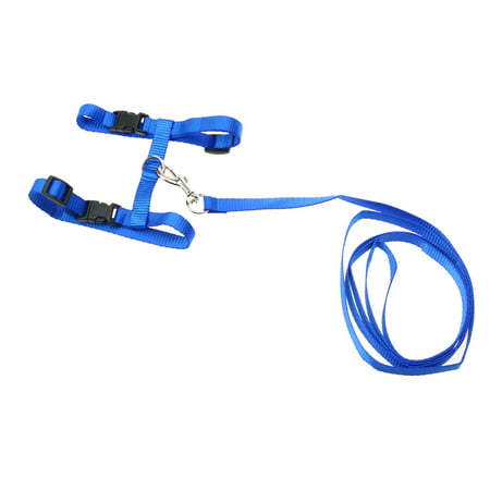 - Unique Bargains Release Buckle Cat Harness and Leash, Blue