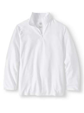 Wonder Nation Boys 4-18 School Uniform Quarter Zip Performance Pullover
