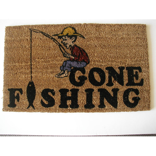 Geo Crafts, Inc Gone Fishing Doormat