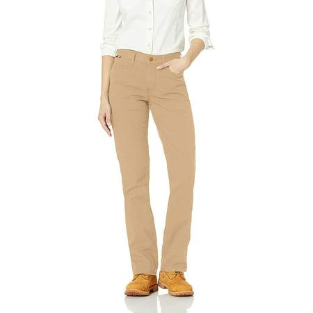 Carhartt Flame Resistant Womens Rugged Flex Canvas Pant, Golden Khaki, 12 - image 1 of 1