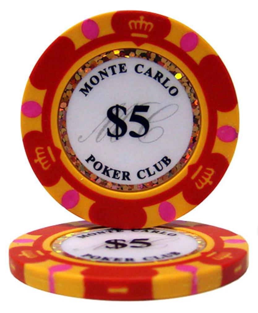 """Roll of 25 $5 Monte Carlo 14 Gram Poker Chips"" by BryBelly"