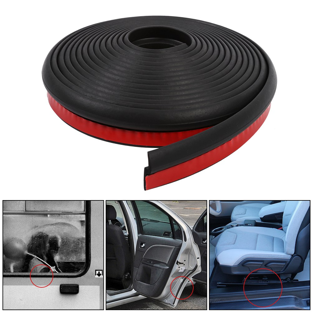 4M Waterproof Z-shape Car Window Door Rubber Strip Weatherstrip Seal Hollow