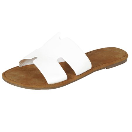 6fa100f0c6 Women's H Greece Open Toe Flat Slide Sandal (FREE SHIPPING)