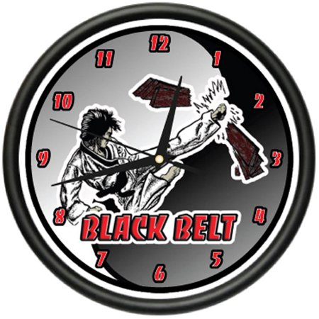 BLACK BELT Wall Clock karate tae kwon do judo gift Gift Set Clock