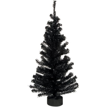 Darice Black Mini Canadian Pine Tree with Base, 24 Inches ()