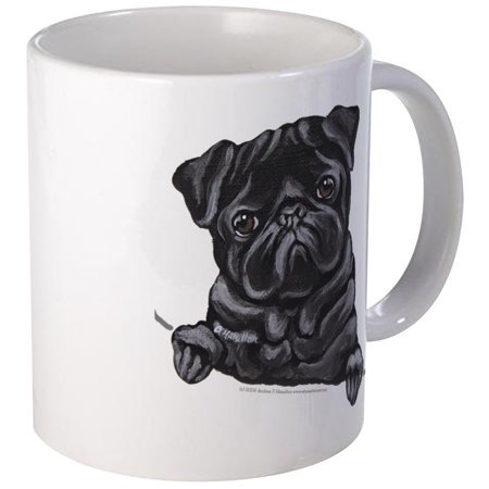 CafePress - Black Pug Line Art Mug - Unique Coffee Mug, Coffee Cup CafePress