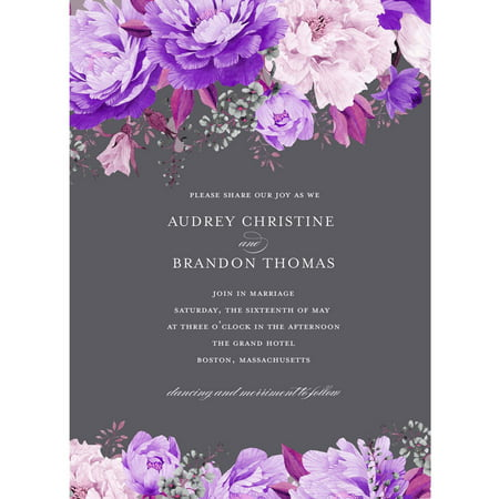 Enchanting Blossoms Standard Wedding Invitation](Bonfire Invitation)