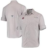 Texas A&M Aggies Columbia Super Tamiami Long Sleeve Button-Down Omni-Shade Shirt - Maroon