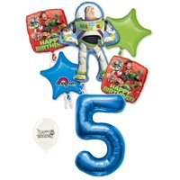 5th Birthday Toy Story Buzz Lightyear and Friends Party Decorations Balloon Bouquet