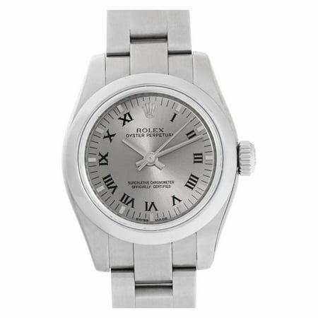 Pre-Owned Rolex Oyster Perpetual 176200 Steel Women Watch (Certified Authentic & Warranty)