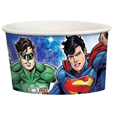 Justice League Treat Cups (8 Count) - Party Supplies - Justice League Birthday Party