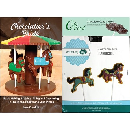 Cybrtrayd Make'n Mold 0301 Carousel Pops Chocolate Candy Mold with Chocolatier's Guide Instructions Manual (Carousel Pops)