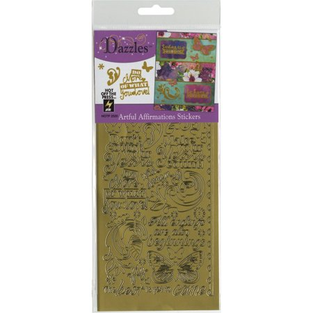 Artful Affirmations Dazzles Stickers, Gold, These shiny and sparkly stickers are great for cards scrapbook pages candles album covers boxes mini-books.., By Hot Off The - Sparkly Candles