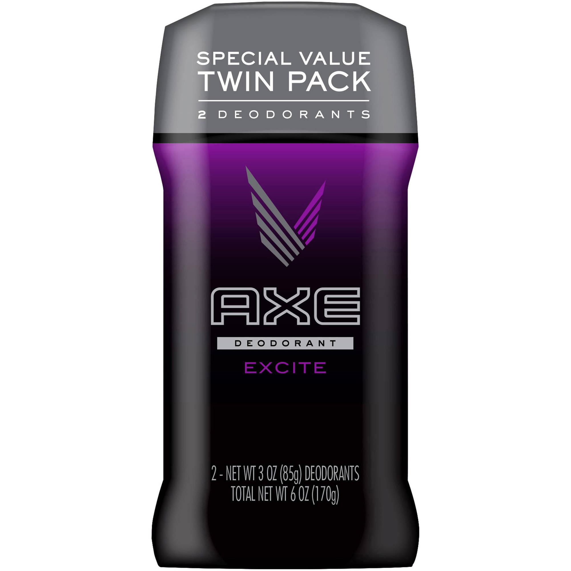 AXE Excite Deodorant Stick for Men, 3 oz, Twin Pack