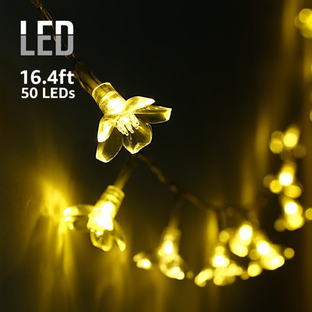 Torchstar Led String Lights With Blossom Flower For Bedroom Kid S Room Christmas Holiday