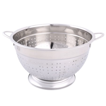 Unique Bargains Hosehold Stainless Steel Two Lugs  Fruit Vegetable Container Basket  26cm