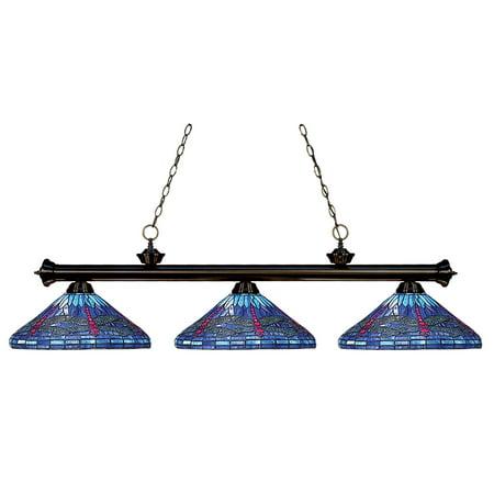 Z-Lite Tiffany Billiard 100703BRZ-D16-1 Billiard/Island Light