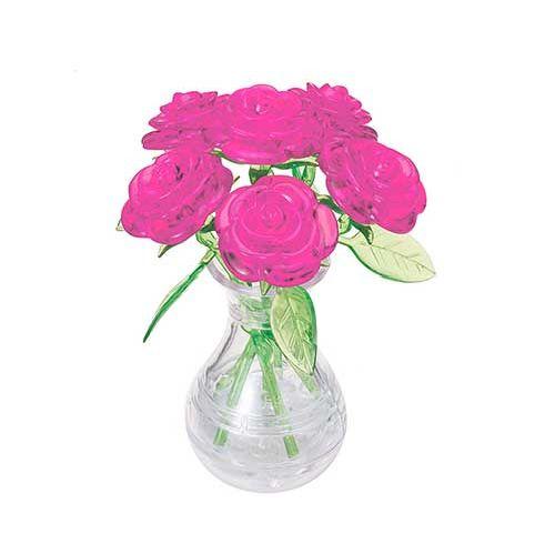 Roses In Vase (pink) Crystal Puzzle - image 1 de 1