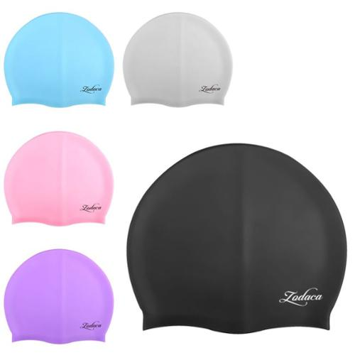 5 Pack Swimming Cap Swim Hat Silicone Soft Elastic Flexible Durable by Zodaca for Adult Men Women Unisex