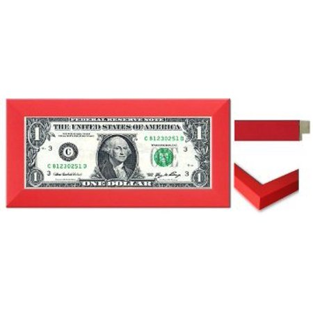 Business First Dollar Frame - Red Wood, Proudly display the frist dollar your business earned. (dollar bill not included) By CountryArtHouse,USA