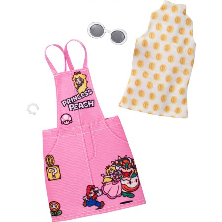 Barbie Clothing Super Mario Pink Jumper Dress for Barbie - Babies Boutique Clothing