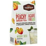 Madhava AgaveFIVE Peachy Green Tea Drink Mix, 6 count, .85 oz (Pack of 6)