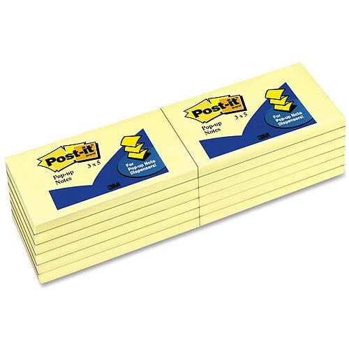 3M Post-it Notes Yellow Original Pop-Up Refills
