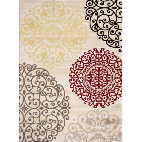 World Rug Gallery Contemporary Modern Floral Indoor Area Rug