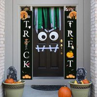 Halloween Decorations Outdoor Trick or Treat Halloween Porch Signs Banners Witch Decor for Front Door or Indoor Home Decor | Porch Decorations | Halloween Welcome Signs