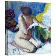 ArtWall 'After the Bath' by Edgar Degas Painting Print on Wrapped Canvas