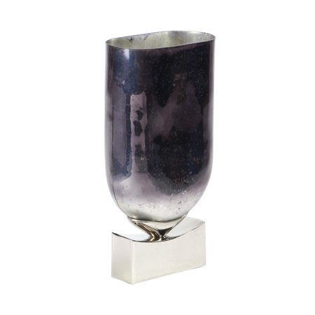 Decmode Contemporary 18 X 7 Inch Red Violet Aluminum Glass Vase