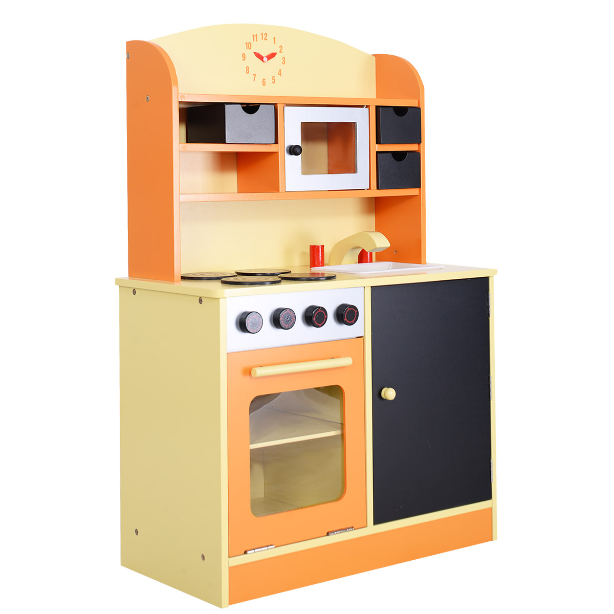 Marvelous Costway Wood Kitchen Toy Kids Cooking Pretend Play Set Toddler Wooden  Playset   Walmart.com