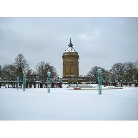 Canvas Print Water Tower Places of Interest Mannheim Germany Stretched Canvas 10 x (Water Tower Place Store Hours)