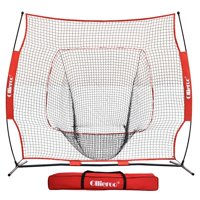 Ollieroo 7'x7' Baseball & Softball Practice Net for Hitting, Pitching - Includes Carry Bag