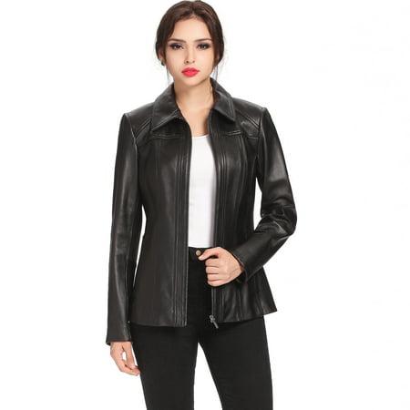 BGSD Women's Ellen Lambskin Leather Jacket (Regular & Plus Size) Lane Bryant Plus Size