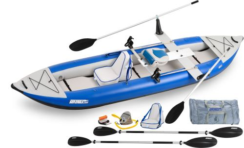 Sea Eagle 420X Explorer Inflatable Kayak QuikRow Package by Sea Eagle Boats, Inc.